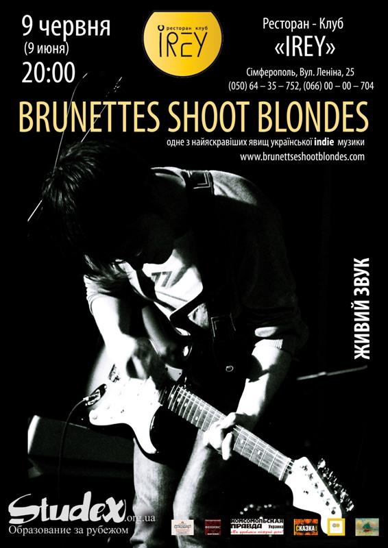 Brunetts shoot blondes